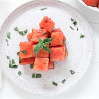 Cách làm salad dưa hấu giấm chua ngọt