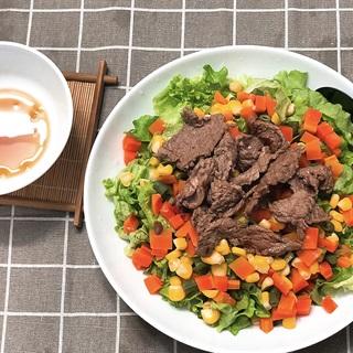 Cách làm Salad rau củ thịt bò