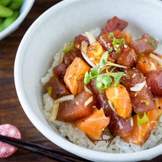 Cách lam sashimi cá hồi cá ngừ
