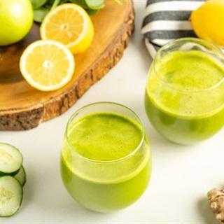 Cách làm nước ép táo thơm dưa leo