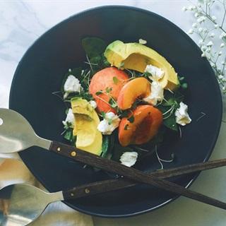 Cách làm salad đào bơ phô mai