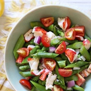 Cách làm Salad măng tây tôm càng
