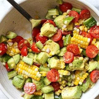 Cách làm Salad bơ cà chua bắp