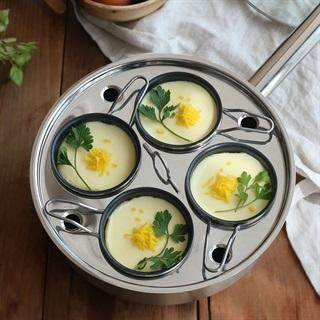 Cách làm Trứng hấp kiểu Hàn