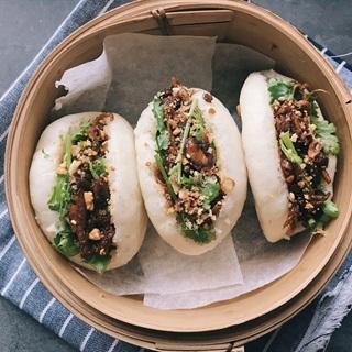 Cách làm Gua Bao chay- Bánh bao kẹp Đài Loan nhân nấm sốt BBQ