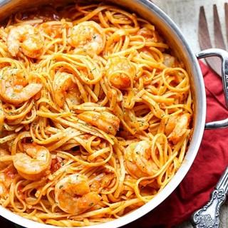Cách làm Pasta tôm sốt cà chua