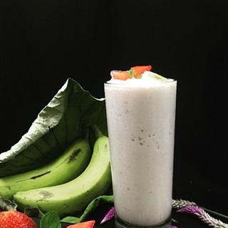 Cách làm smoothie chuối dâu yogurt