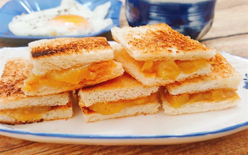Cách làm bánh mì nướng kaya