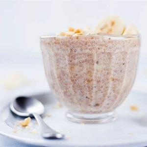 Pudding chuối hạt chia