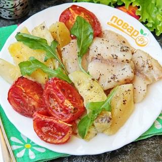 Cách làm cá phi lê nướng rau củ