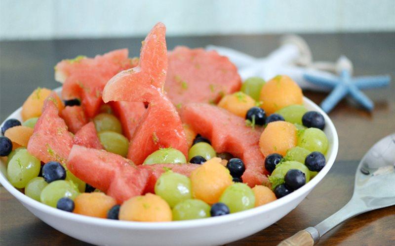 Cách làm salad dưa hấu trái cây chua ngọt