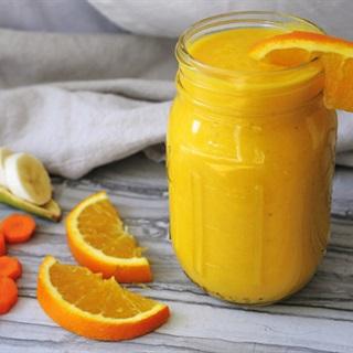 Cách làm Sinh tố cam cà rốt chuối