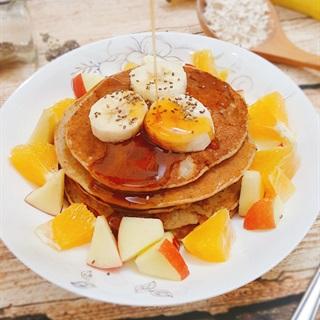 Cách làm pancake yến mạch giảm cân