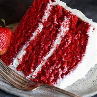 Cách làm Bánh bông lan Red Velvet nướng