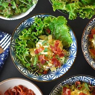 Cách làm Salad trứng nghiền thịt xông khói