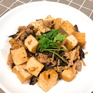 Cách làm Đậu hũ xào thịt bằm và nấm