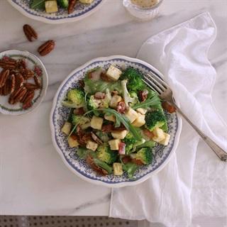 Cách làm salad đậu hũ bông cải xanh