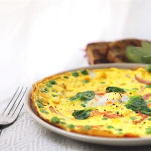 Trứng chiên nấm kim châm rau củ