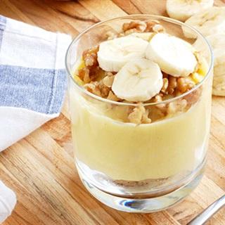 Cách làm Pudding chuối nghiền