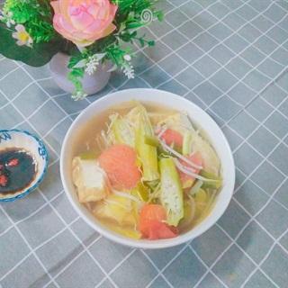 Cách làm canh chua chay đậu hũ