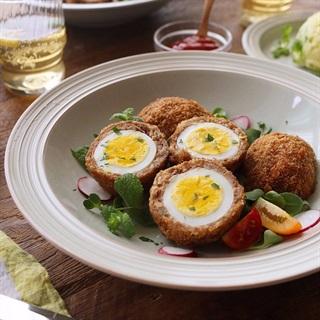 Cách làm trứng gà bọc thịt chiên xù