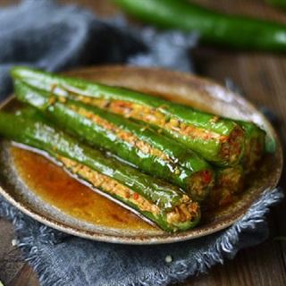 Cách làm ớt xanh nhồi thịt