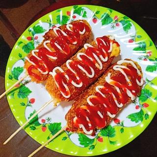 Cách làm Hotdog phô mai kéo sợi Hàn Quốc