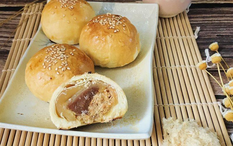 Cách Làm Bánh Trung Thu Đài Loan Nhân Chà Bông