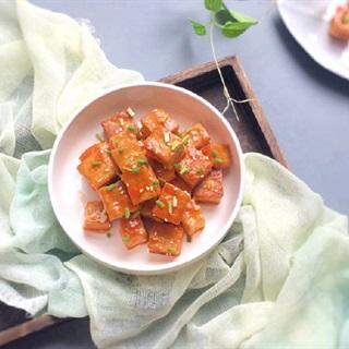 Cách làm đậu hũ trắng chiên sốt chua ngọt