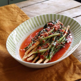 Cách làm cây củ cải Hàn Quốc muối kim chi