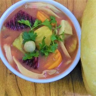 Cách nấu cà ri nấm đậu chay chấm bánh mì