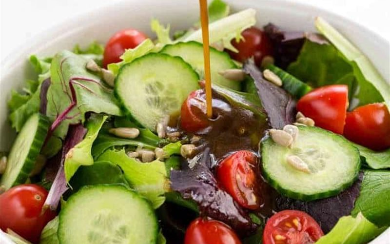 Cách làm Sốt giấm đen trộn salad