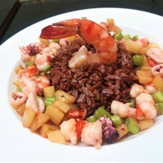 Cách làm Cơm gạo lứt hải sản