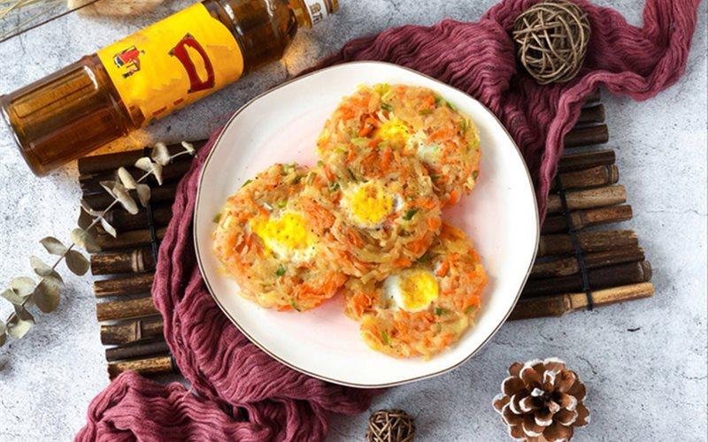 Cách làm chả rau củ trứng cút chiên