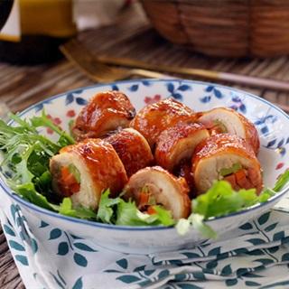 Cách làm gà cuộn rau củ nướng thơm