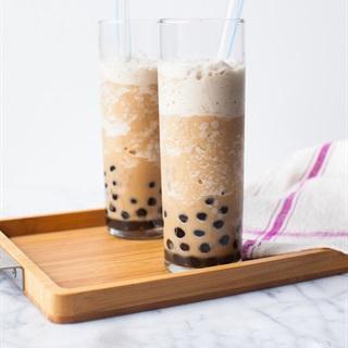 Cách làm Sinh tố cà phê sữa trân châu