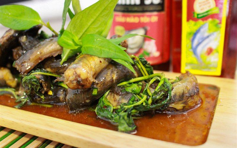 Cách làm Cá Kèo Kho Rau Răm dầu hào tỏi ớt thơm béo tại nhà