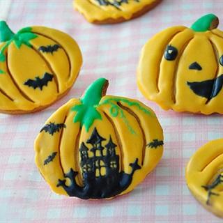 Cách làm bánh quy hình trái bí đỏ cho Halloween