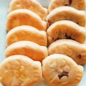 Bánh cá nhân đậu đỏ và hạt óc chó