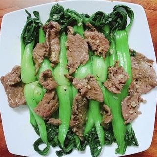 Cách làm Thịt bò xào cải thìa