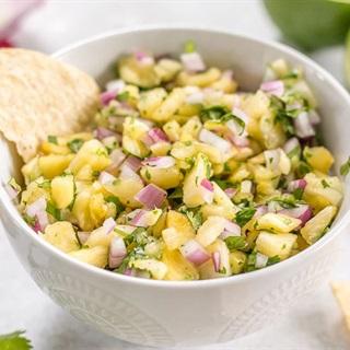 Cách làm salad thơm chua ngọt