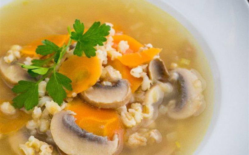 Cách nấu canh nấm cà rốt đại mạch