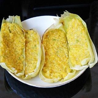 Cách làm Bánh bắp trứng hấp