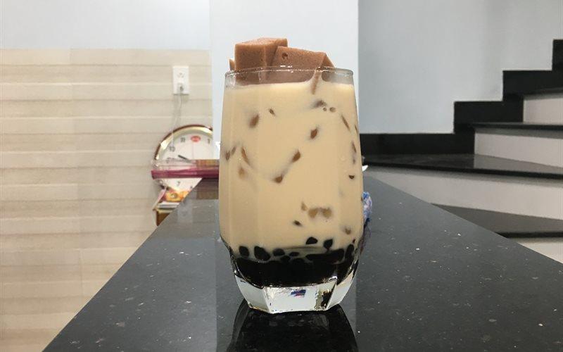 Cách làm trà sữa trân châu thạch đậu đỏ