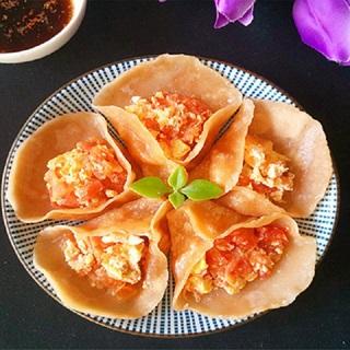 Cách làm Bánh hấp nhân trứng sốt cà chua