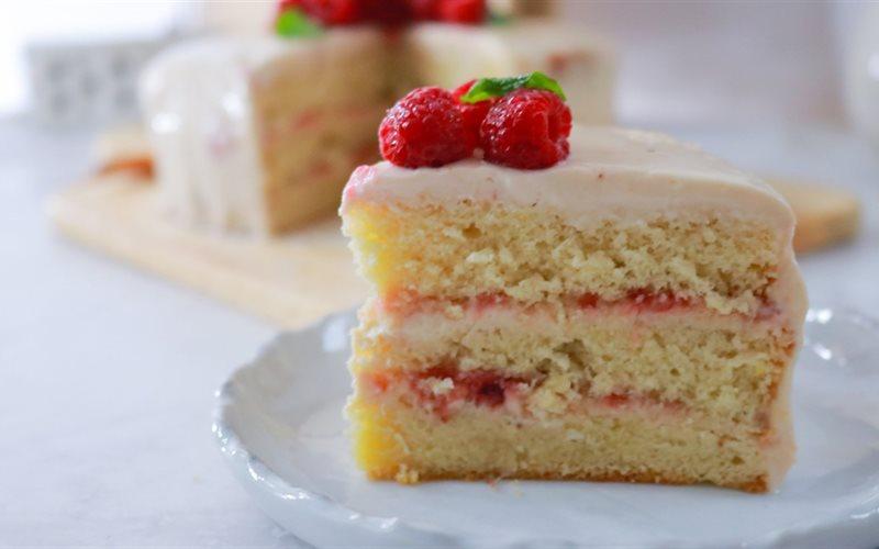 Cách làm Bánh kem phúc bồn tử - Raspberry cake