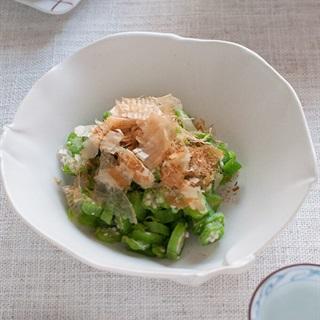Cách làm Salad đậu bắp cá bào