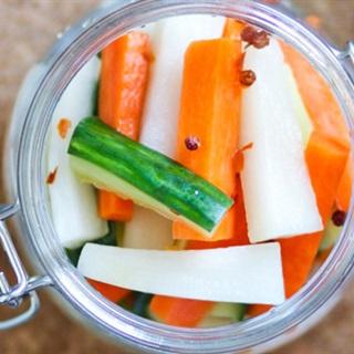Cách làm Dưa leo cà rốt ngâm chua ngọt