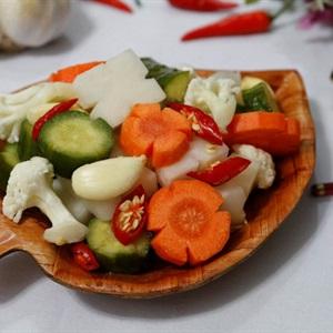 Rau củ muối chua ngọt ăn chống ngán