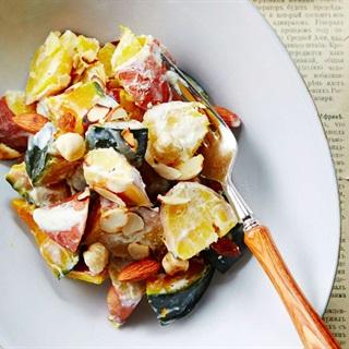 Cách làm salad bí đỏ và khoai lang